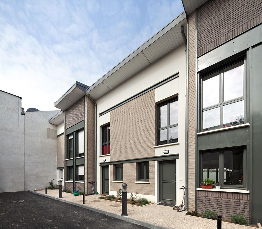 Immeuble de 30 logements et 9 maisons individuelles, Montrouge