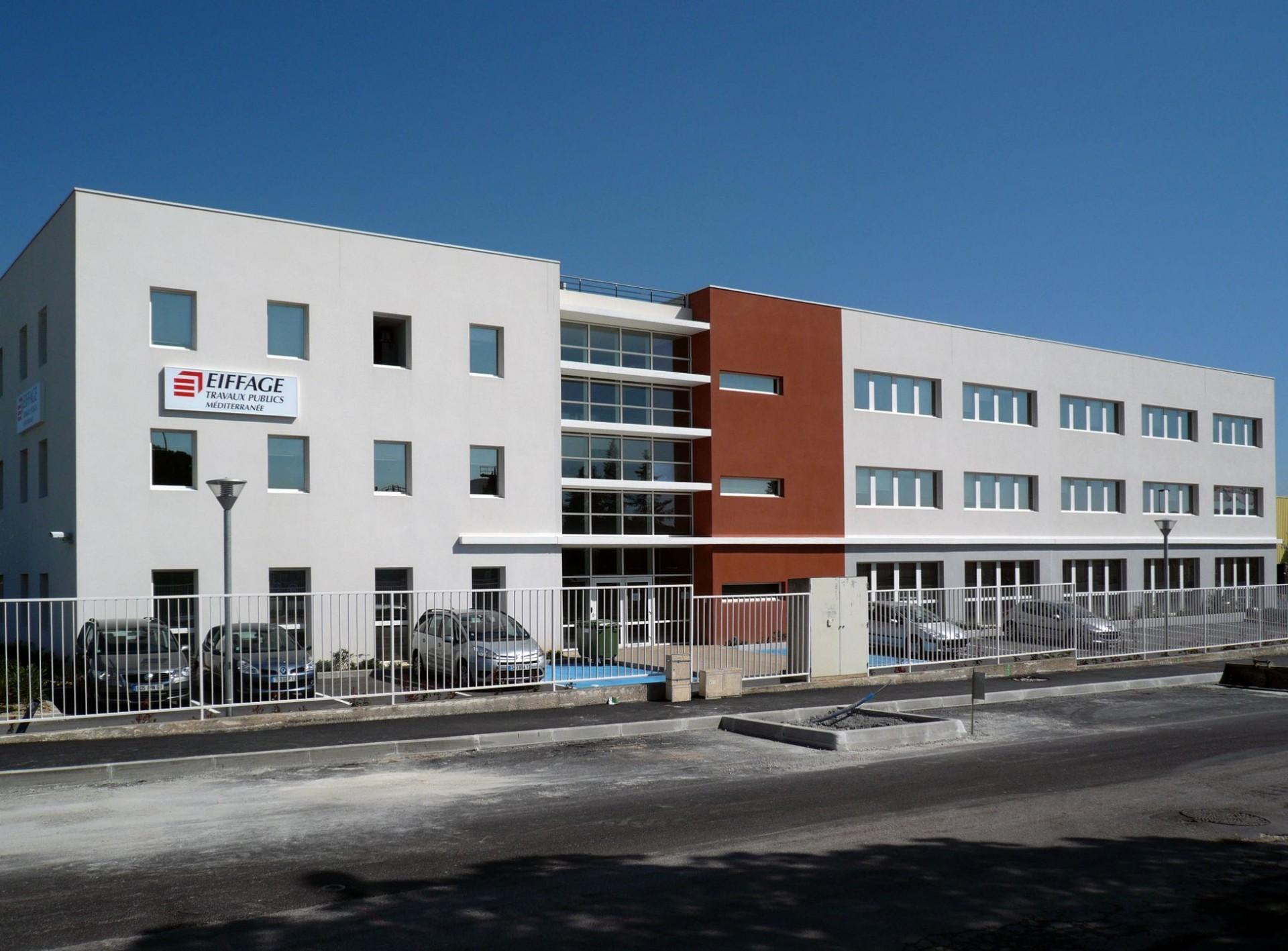 Construction du siège social de Eiffage TP Méditerranée, Vitrolles (13)