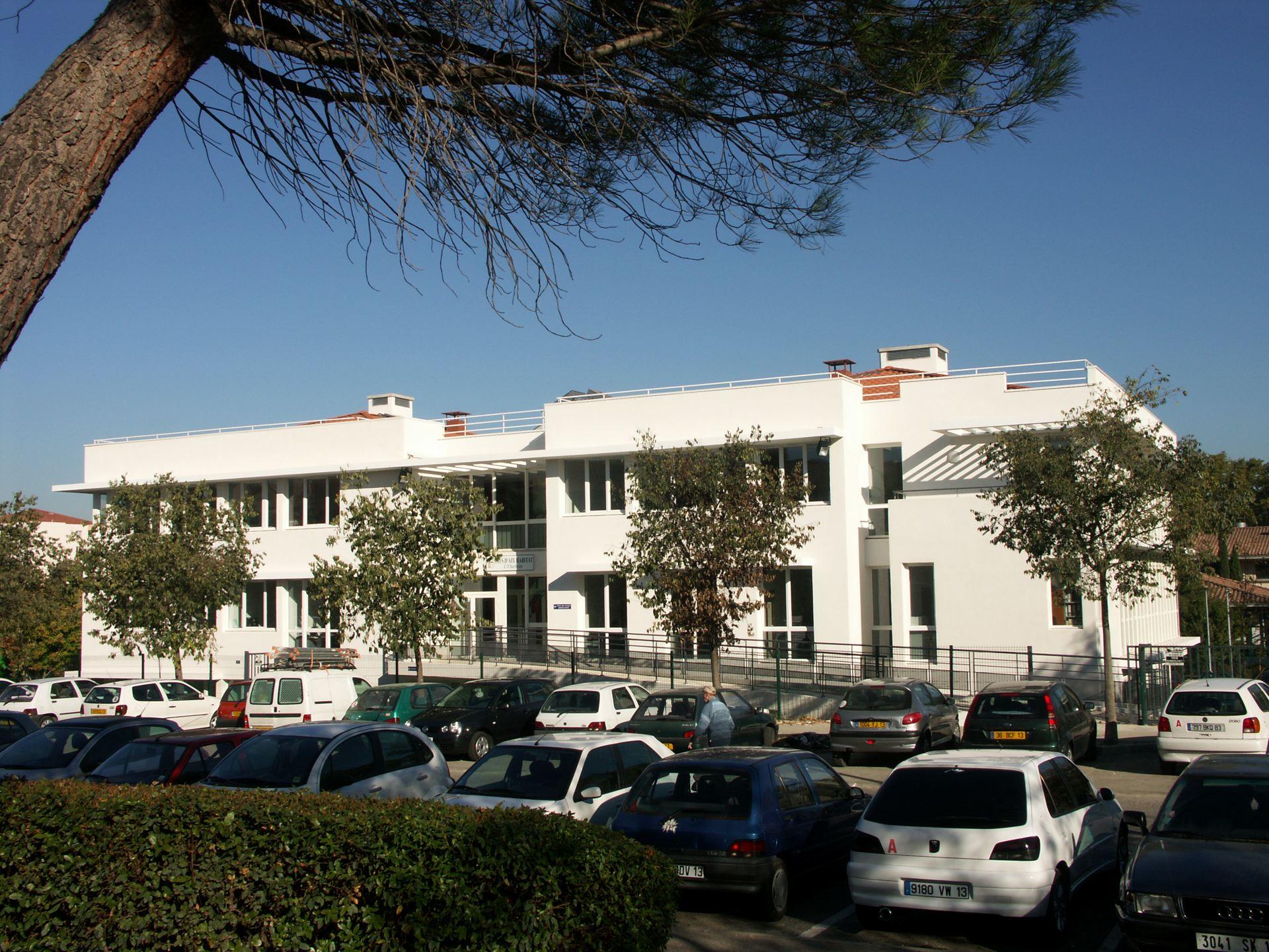 Construction du siège de Pays d'Aix Habitat, OPAC, Aix-en- Provence